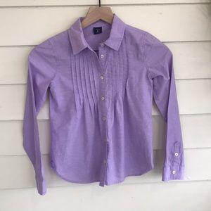 💐🌸Gap Kids Purple Button Down Shirt M(8)